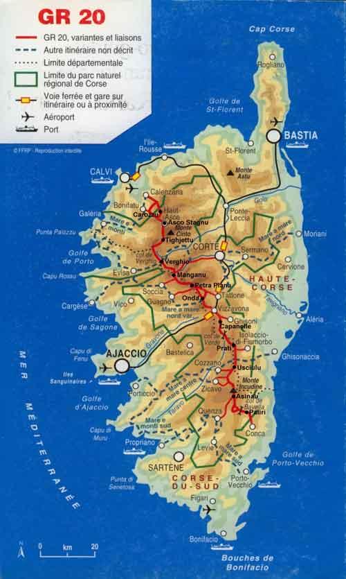 Carte Corse Avec Distance.Carte Corse Carte De Corse